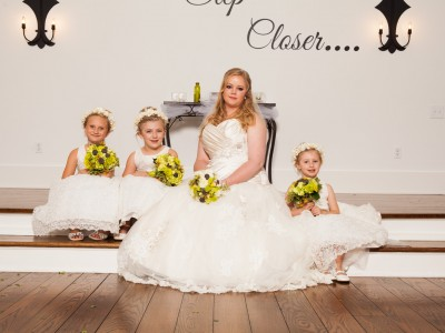Photograph of a white wedding