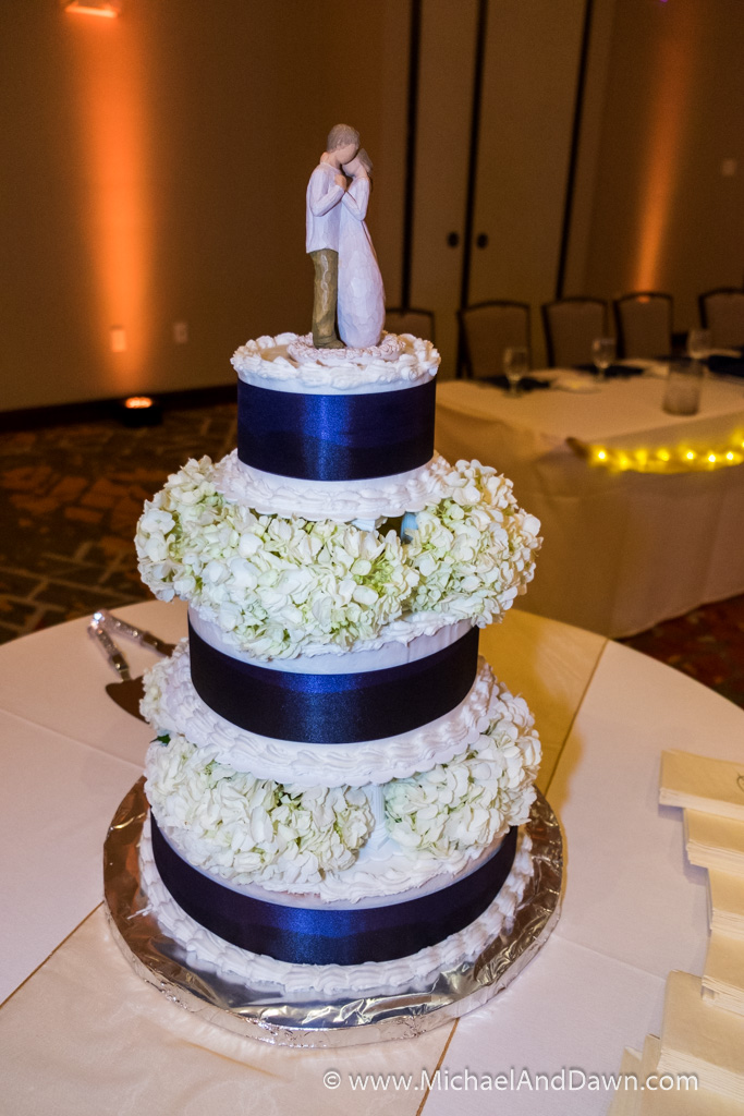 picture of wedding cake with topper
