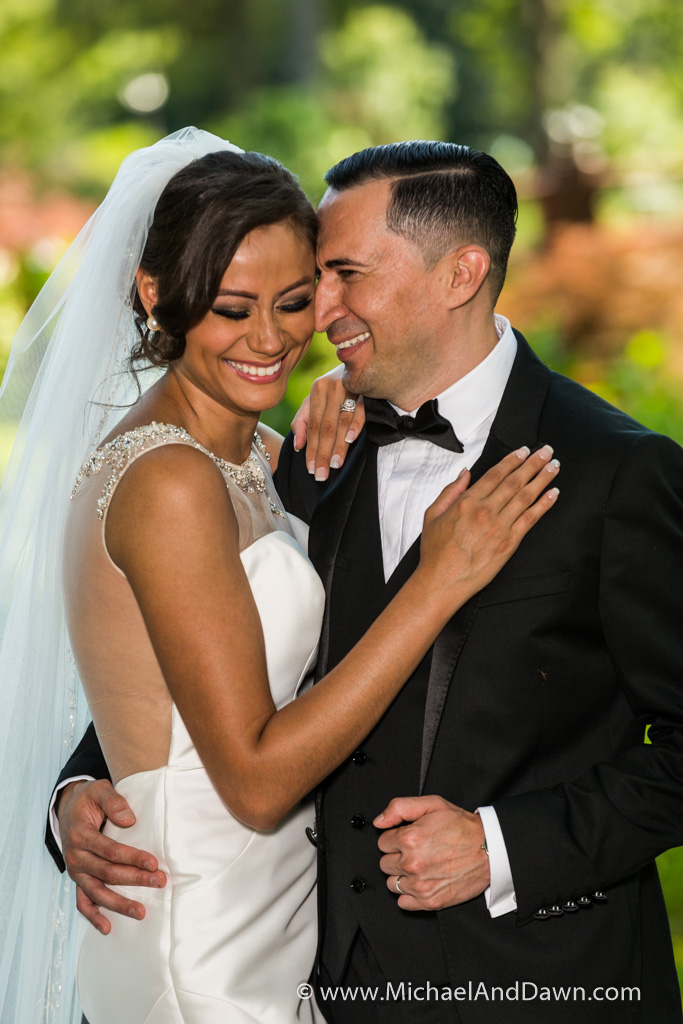 picture of laughing bride and groom