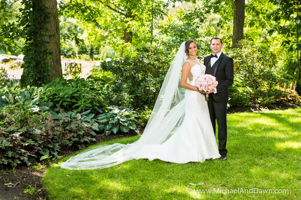 picture of Bride and Groom in garden