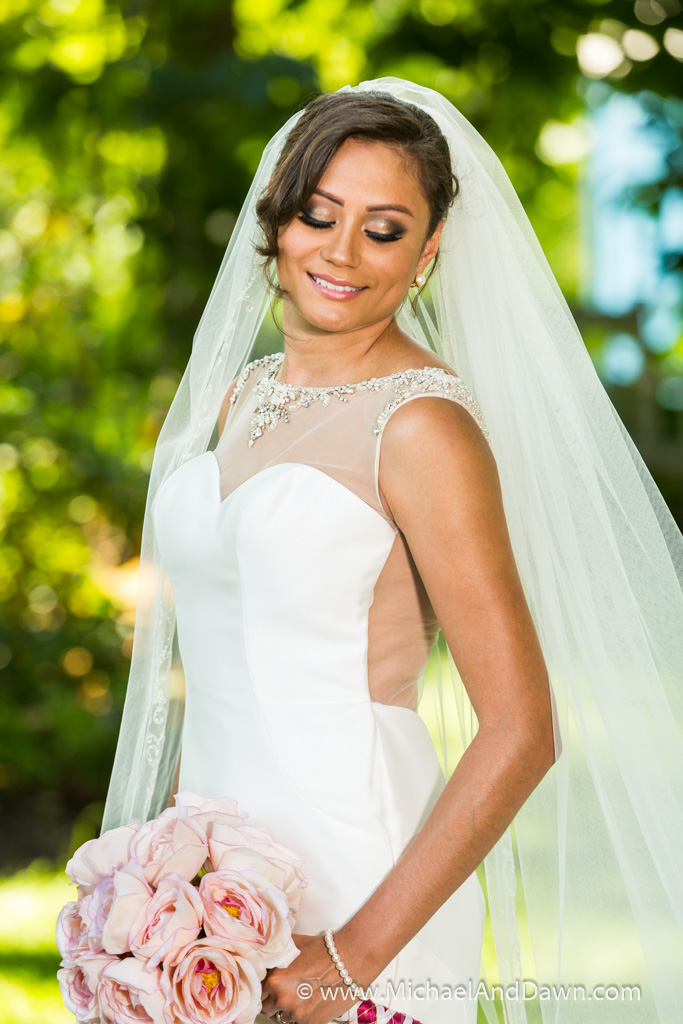 picture of makeup on bride