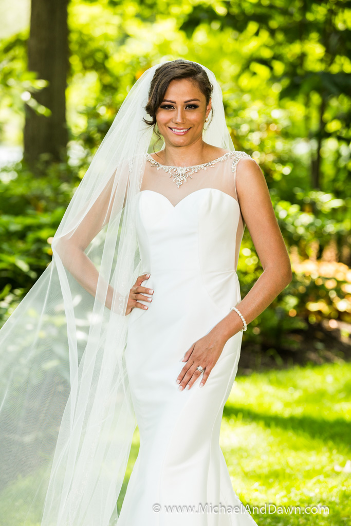 picture of bride and her veil